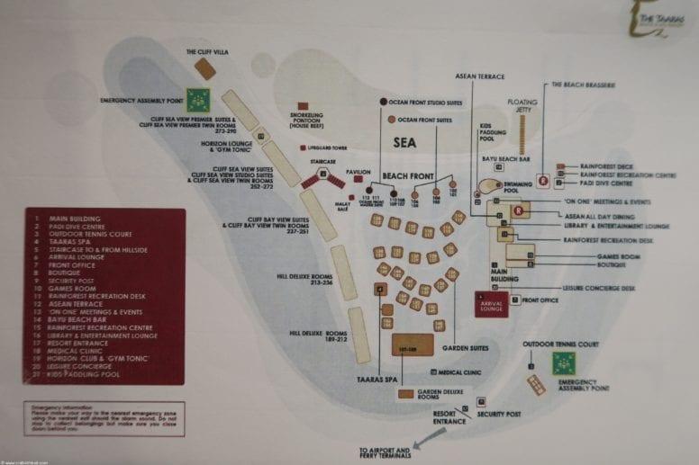 the taaras resort map