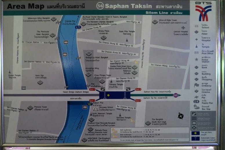 Chao Phraya River Express map