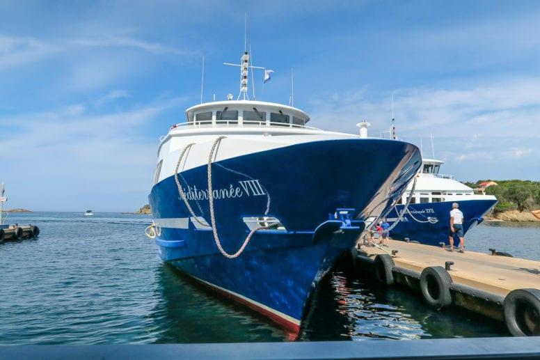 porquerolles island boat