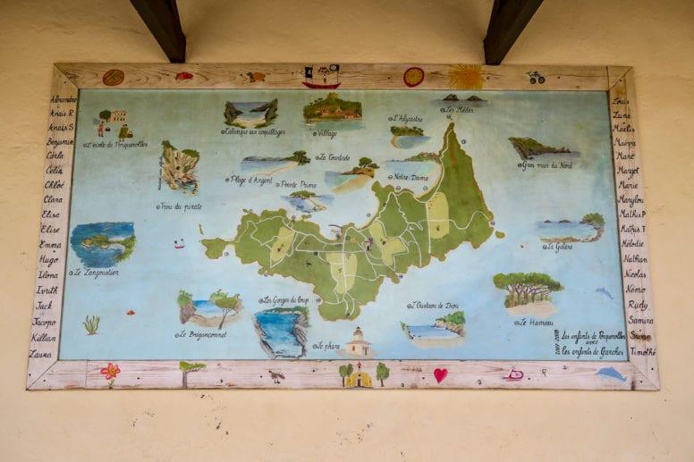 porquerolles island france map