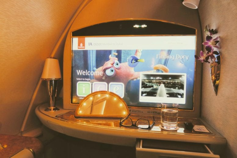 emirates first class screen