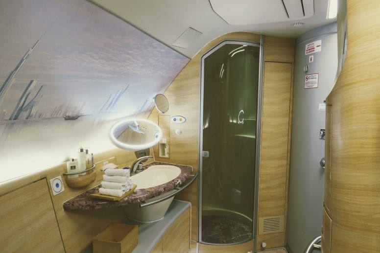 emirates first class shower spa