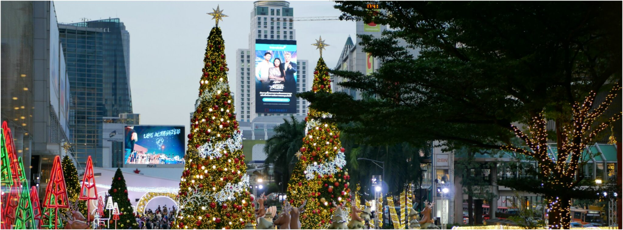 Christmas Lights and Decorations in Bangkok