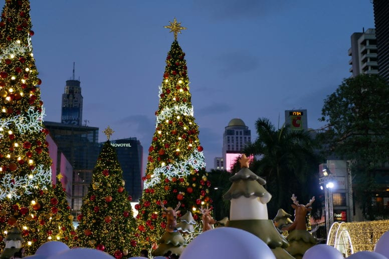 christmas decorations in bangkok
