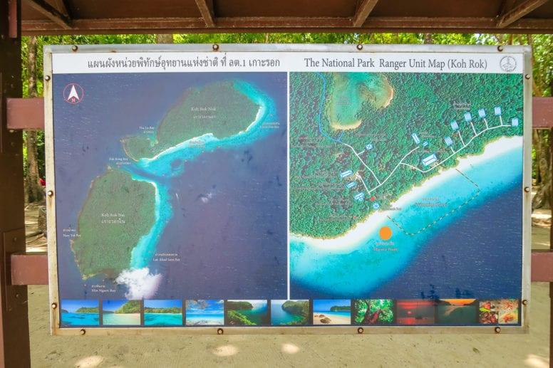 koh rok island map