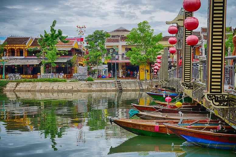Hoi An Bridge and River