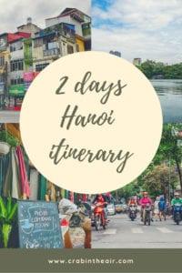 2 Day Hanoi Itinerary - Share it on Pinterest!