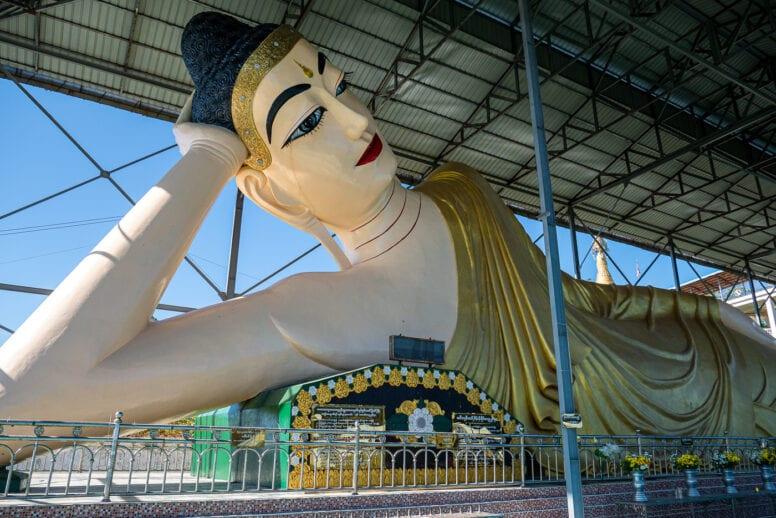 reclining buddha ngapali beach